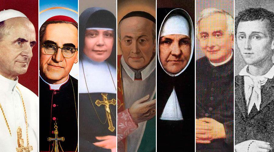 7 nuevos santos en la Iglesia católica